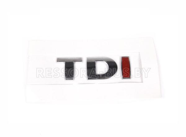 Эмблема «TDI» задней двери (Хром/Хром/Красный) VW Crafter 06-