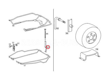 Крючок крепления запаски MB Sprinter/VW LT 96