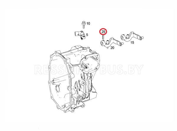 Штифт тяжки КПП MB Sprinter 906/VW Crafter 06- (6×24)