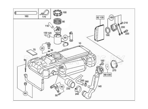 Скоба крепления топливного бака Mercedes Sprinter